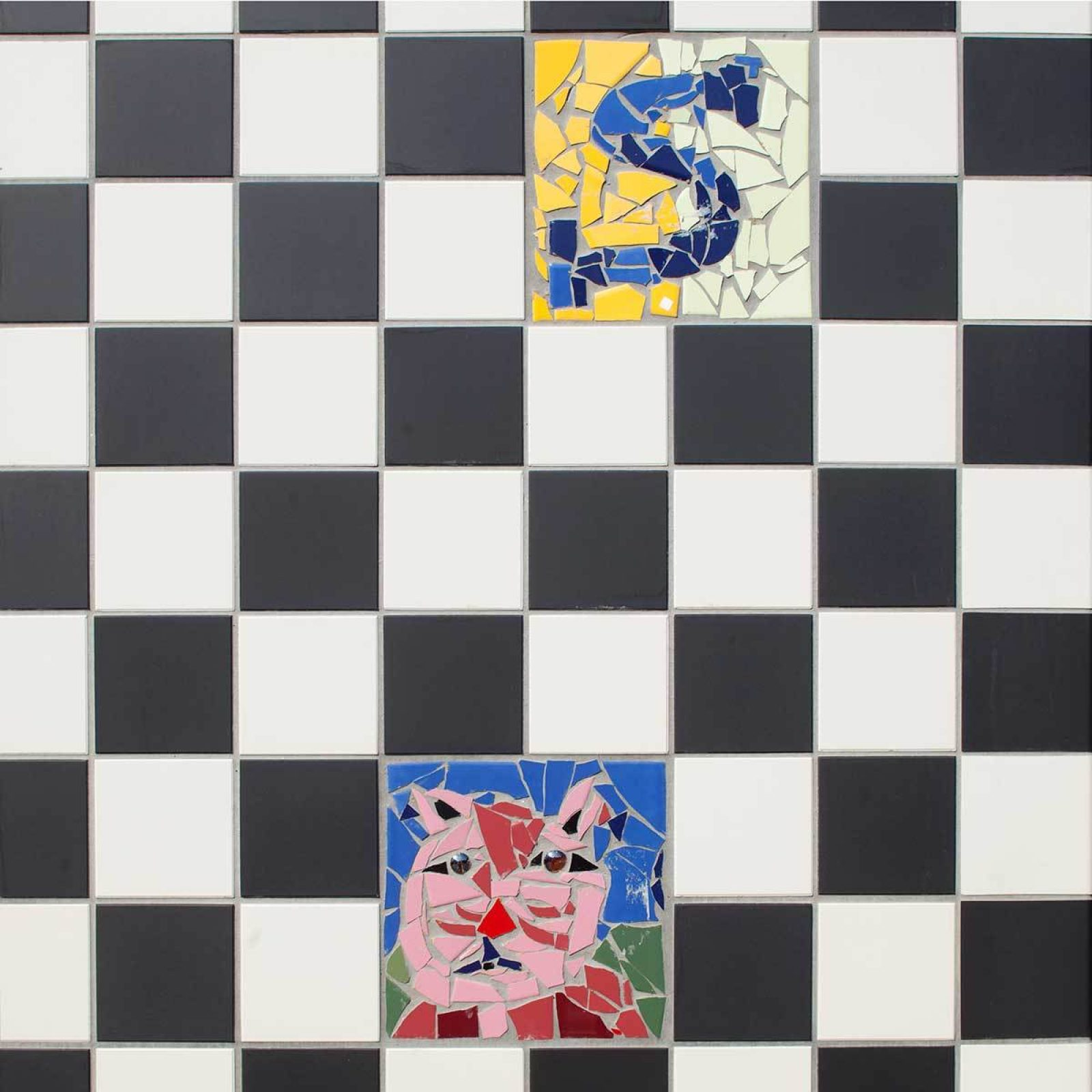 Aj Schreuderschool Tiles Close Up