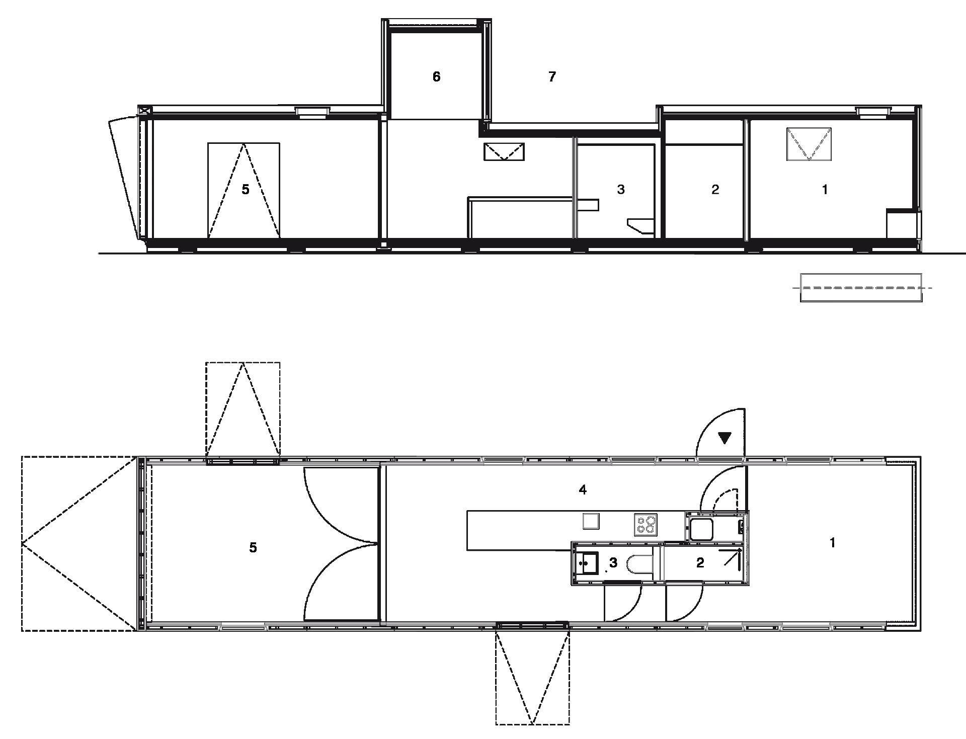 Huis 19 Floorplan Section