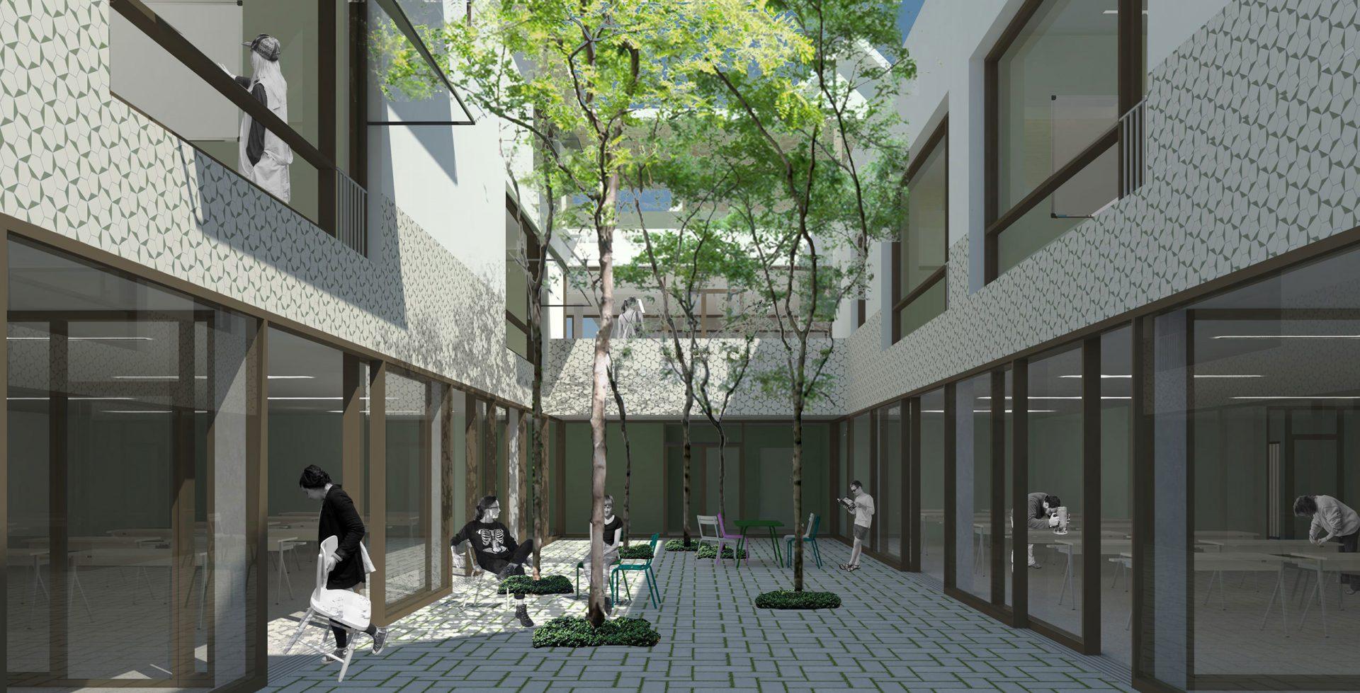 Lakbors Render Courtyard