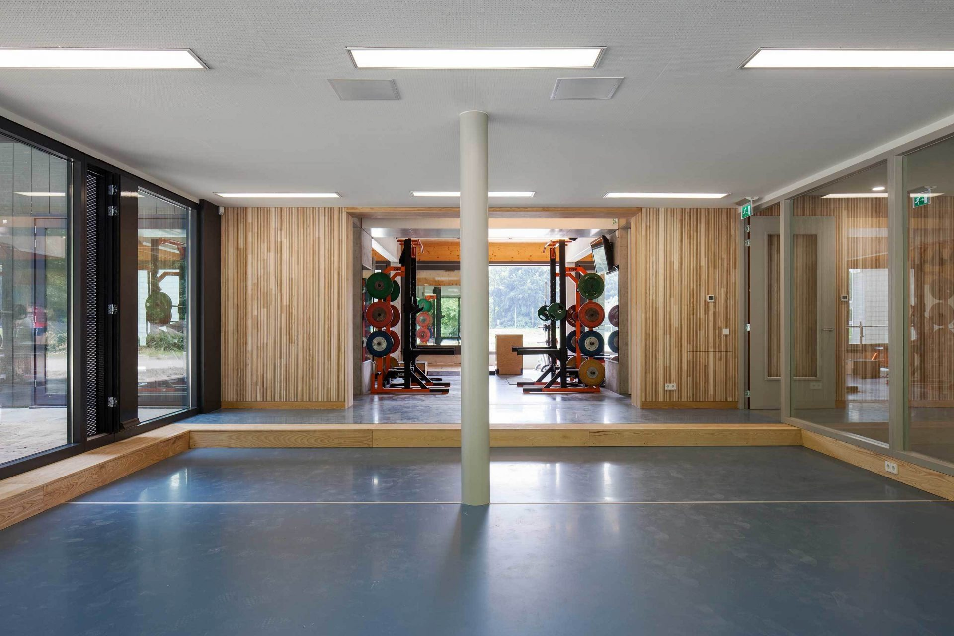 Rowing Building Gym Hall